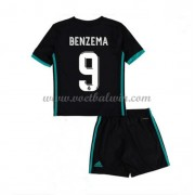 Real Madrid Voetbaltenue Kind 2017-18 Karim Benzema 9 Uitshirt..
