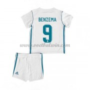 Real Madrid Voetbaltenue Kind 2017-18 Karim Benzema 9 Thuisshirt..