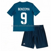 Real Madrid Voetbaltenue Kind 2017-18 Karim Benzema 9 Third Shirt..