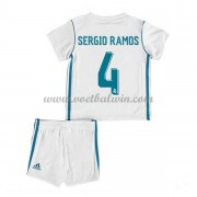 Real Madrid Voetbaltenue Kind 2017-18 Sergio Ramos 4 Thuisshirt..