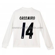 Real Madrid Voetbaltenue Kind 2018-19 Carlos Casemiro 14 Thuisshirt Lange Mouw..
