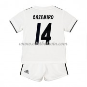Real Madrid Voetbaltenue Kind 2018-19 Carlos Casemiro 14 Thuisshirt..