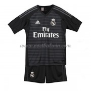 Real Madrid Voetbaltenue Kind 2018-19 Keeper Thuisshirt..
