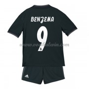 Real Madrid Voetbaltenue Kind 2018-19 Karim Benzema 9 Uitshirt..