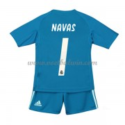 Real Madrid Voetbaltenue Kind 2018-19 Keeper Keylor Navas 1 Uitshirt..