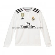 Real Madrid Voetbaltenue Kind 2018-19 Thuisshirt Lange Mouw..