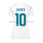 Real Madrid Dames Voetbalshirts 2017-18 James Rodriguez 10 Thuisshirt..