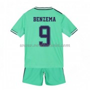 Real Madrid Voetbaltenue Kind 2019-20 Karim Benzema 9 Third Shirt..