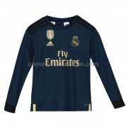 Real Madrid Voetbaltenue Kind 2019-20 Uitshirt Lange Mouw..