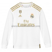 Real Madrid Voetbaltenue Kind 2019-20 Thuisshirt Lange Mouw..