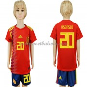 Spanje Elftal Voetbaltenue Kind WK 2018 Marco Asensio 20 Thuisshirt..