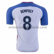 Goedkope Voetbalshirts USA Elftal 2016 Clint Dempsey 8 Thuis Tenue..