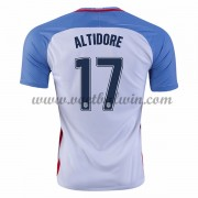 Goedkope Voetbalshirts USA Elftal 2016 Jozy Altidore 17 Thuis Tenue..