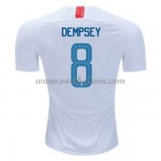 Goedkope Voetbalshirts USA Elftal 2018 Clint Dempsey 8 Thuis Tenue..