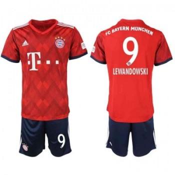 Bayern München Voetbaltenue Kind 2018-19 Robert Lewandowski 9 Thuisshirt
